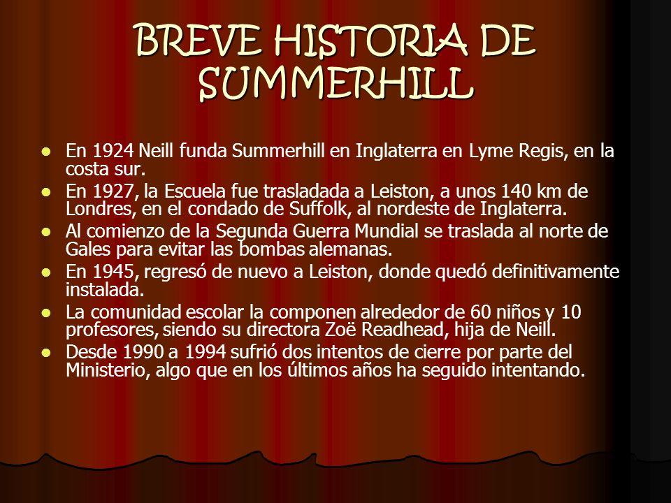 BREVE HISTORIA DE SUMMERHILL