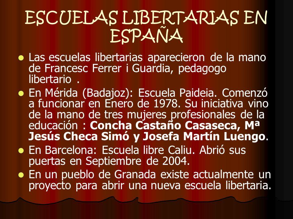 ESCUELAS LIBERTARIAS EN ESPAÑA