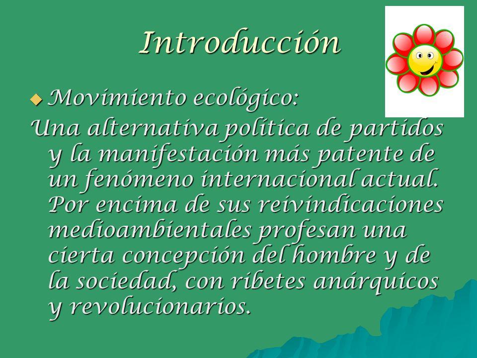 Introducción Movimiento ecológico: