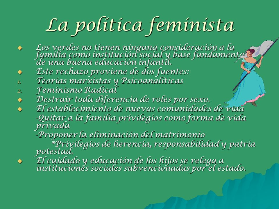 La política feminista