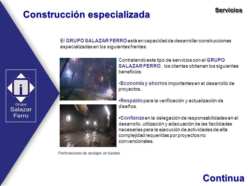 Perforaciones de anclajes en túneles