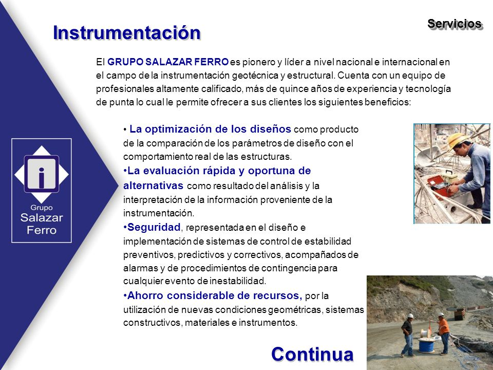 Instrumentación Continua Servicios