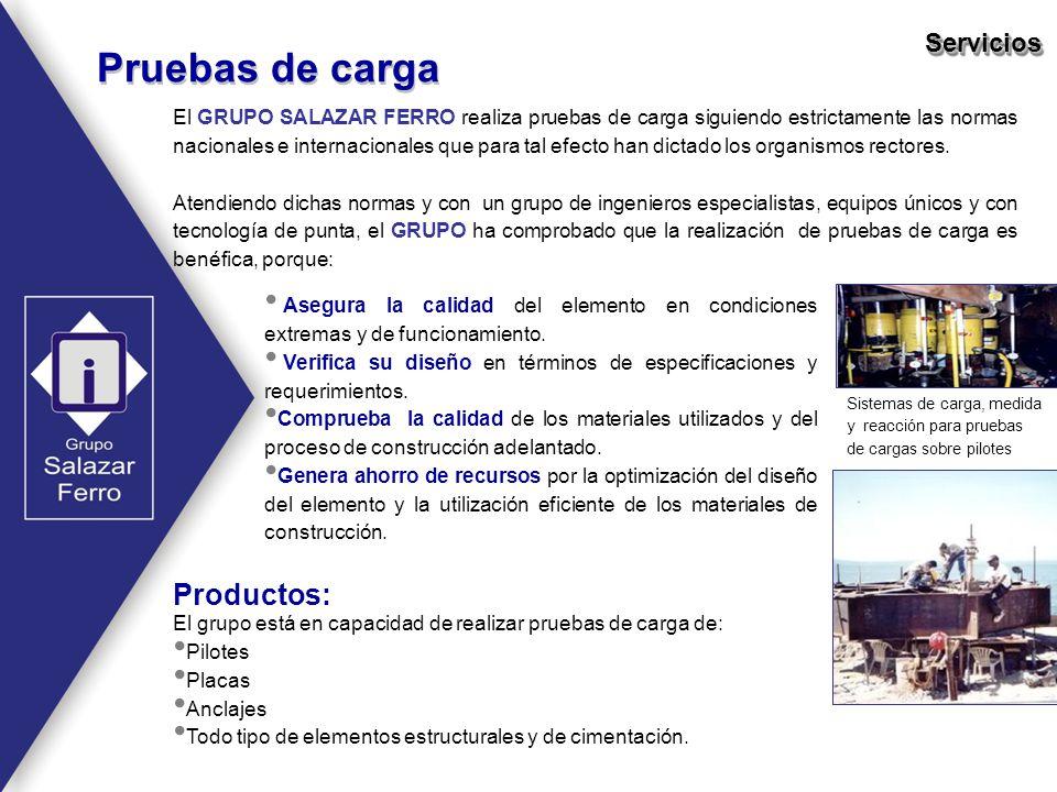 Pruebas de carga Productos: Servicios