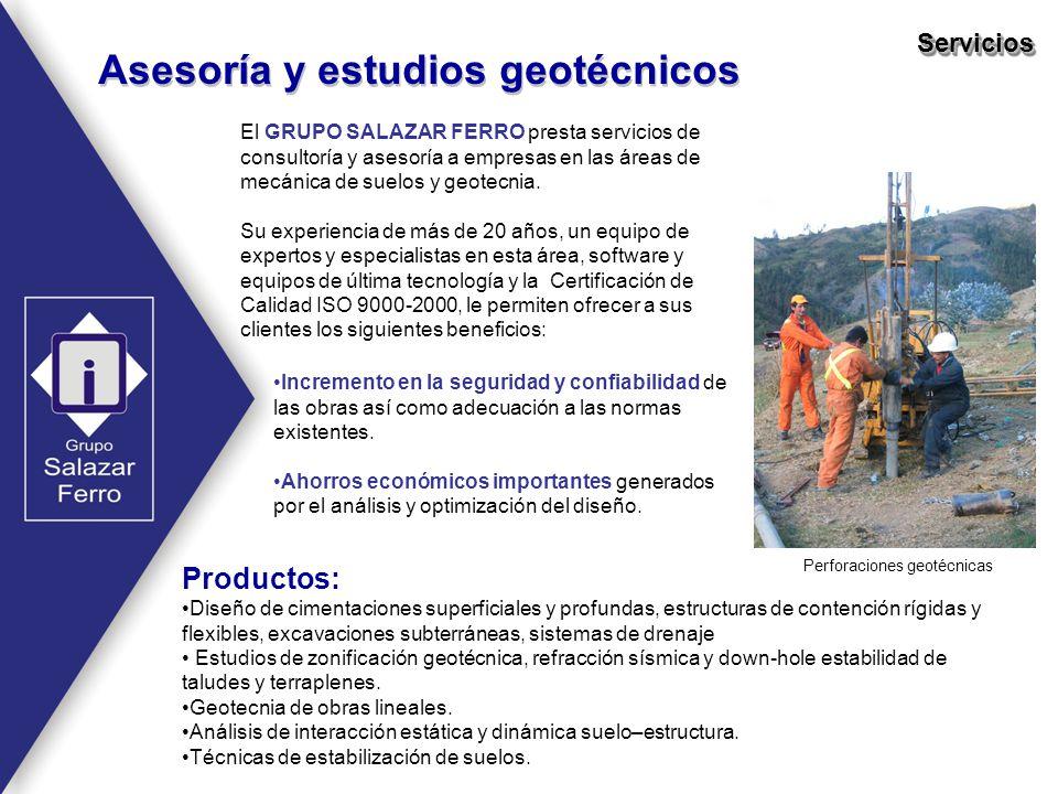 Perforaciones geotécnicas