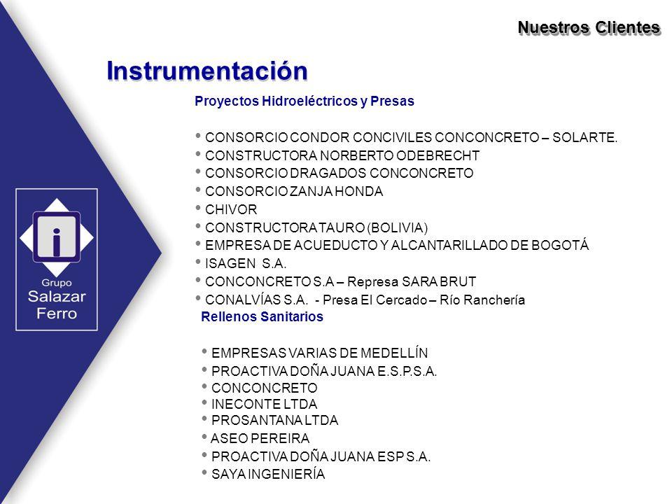 Instrumentación Nuestros Clientes Proyectos Hidroeléctricos y Presas