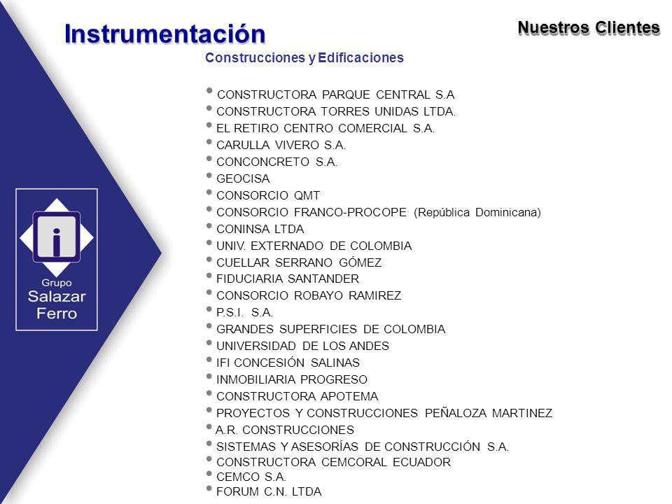 Instrumentación Nuestros Clientes Construcciones y Edificaciones