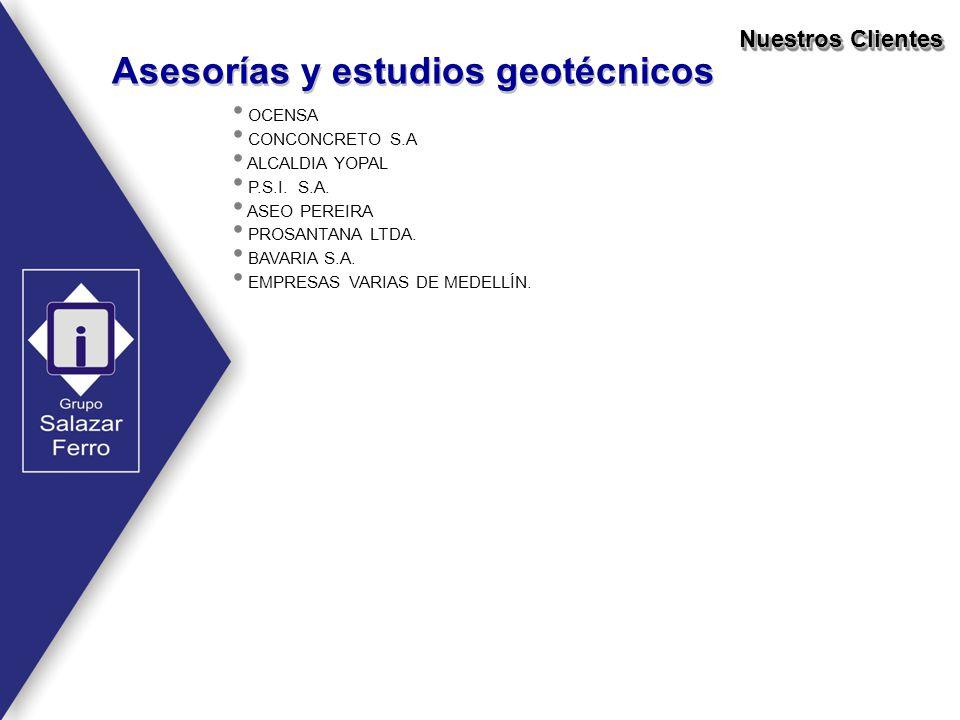 Asesorías y estudios geotécnicos