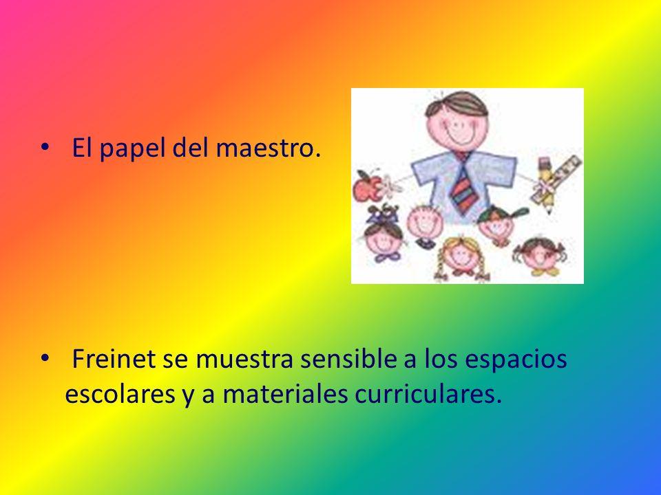 El papel del maestro.