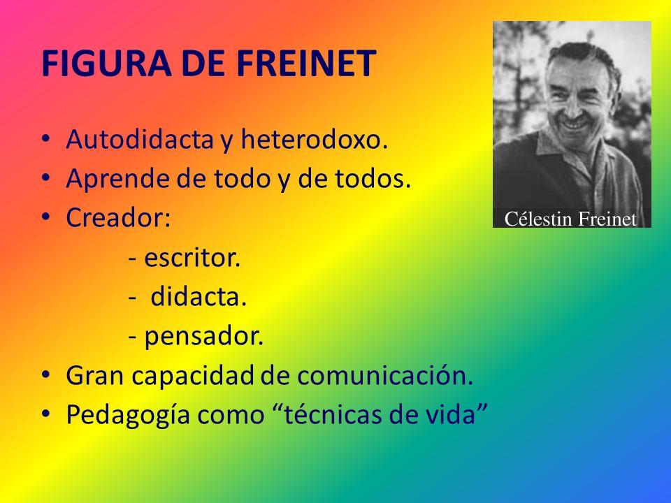 FIGURA DE FREINET Autodidacta y heterodoxo.
