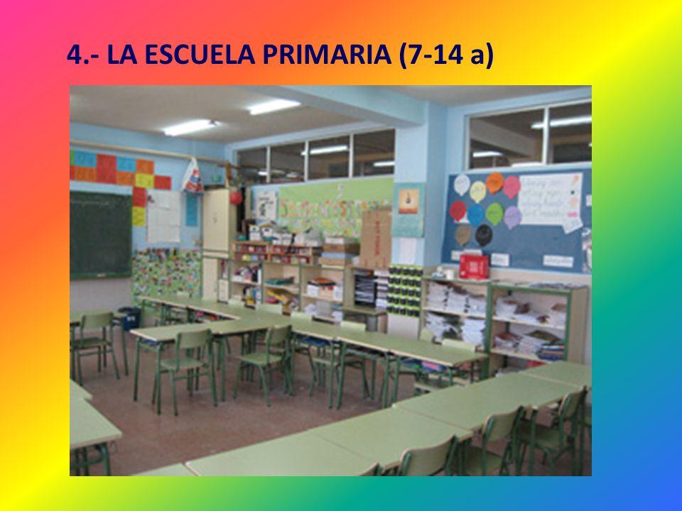 4.- LA ESCUELA PRIMARIA (7-14 a)