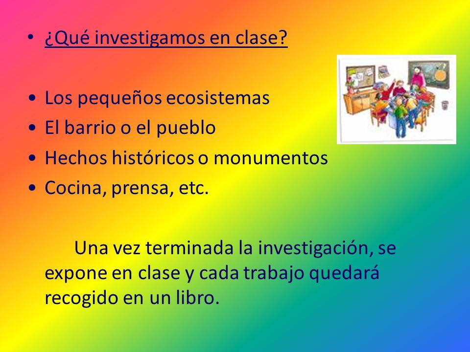 ¿Qué investigamos en clase