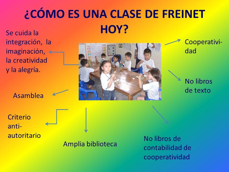 ¿CÓMO ES UNA CLASE DE FREINET HOY