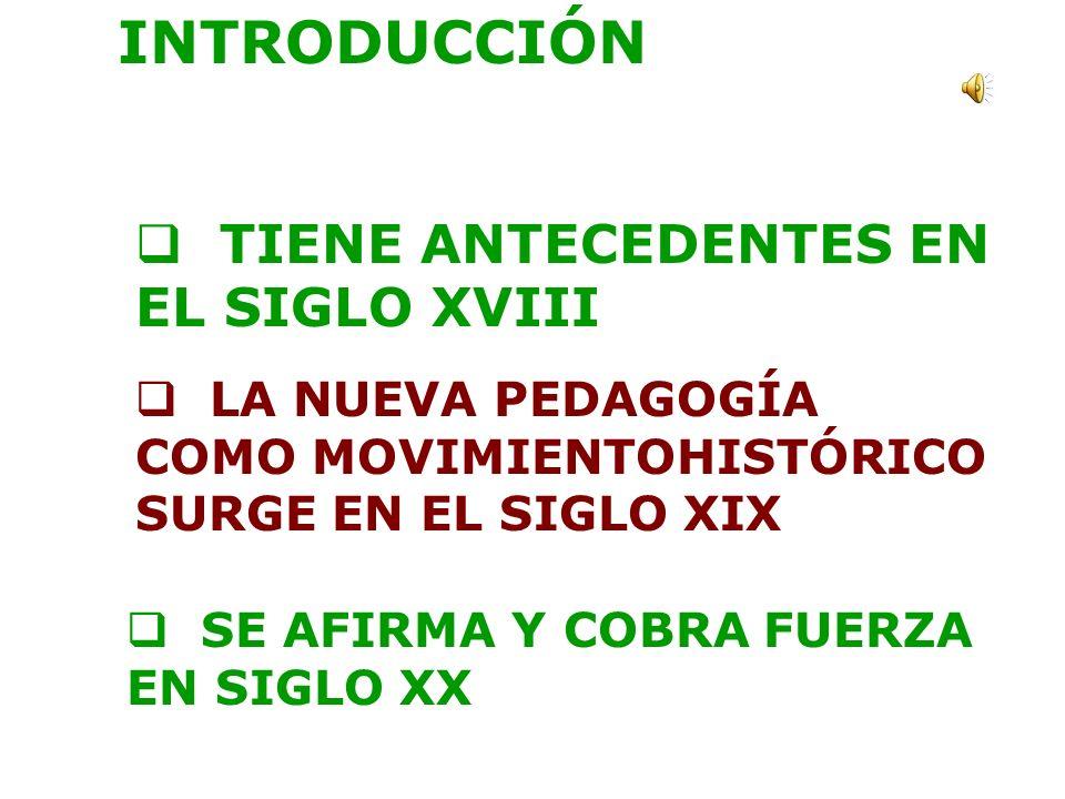 INTRODUCCIÓN TIENE ANTECEDENTES EN EL SIGLO XVIII