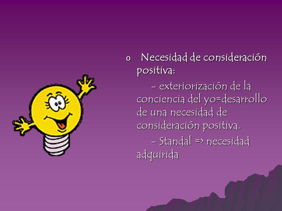 Necesidad de consideración positiva: