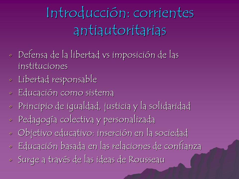 Introducción: corrientes antiautoritarias