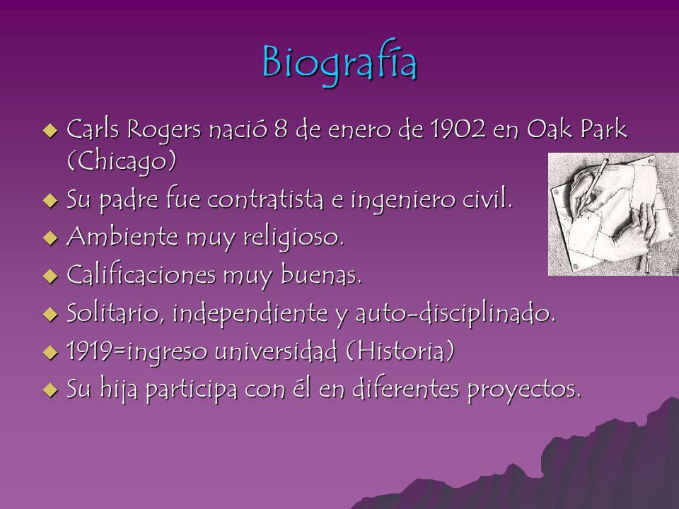 Biografía Carls Rogers nació 8 de enero de 1902 en Oak Park (Chicago)