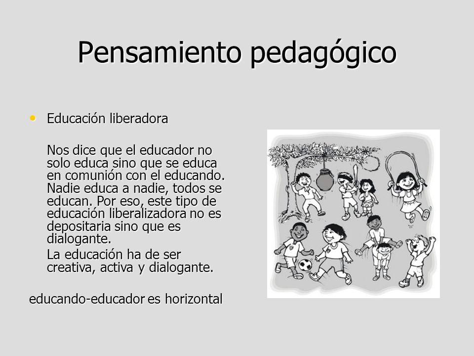 Pensamiento pedagógico