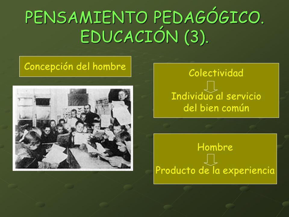 PENSAMIENTO PEDAGÓGICO. EDUCACIÓN (3).