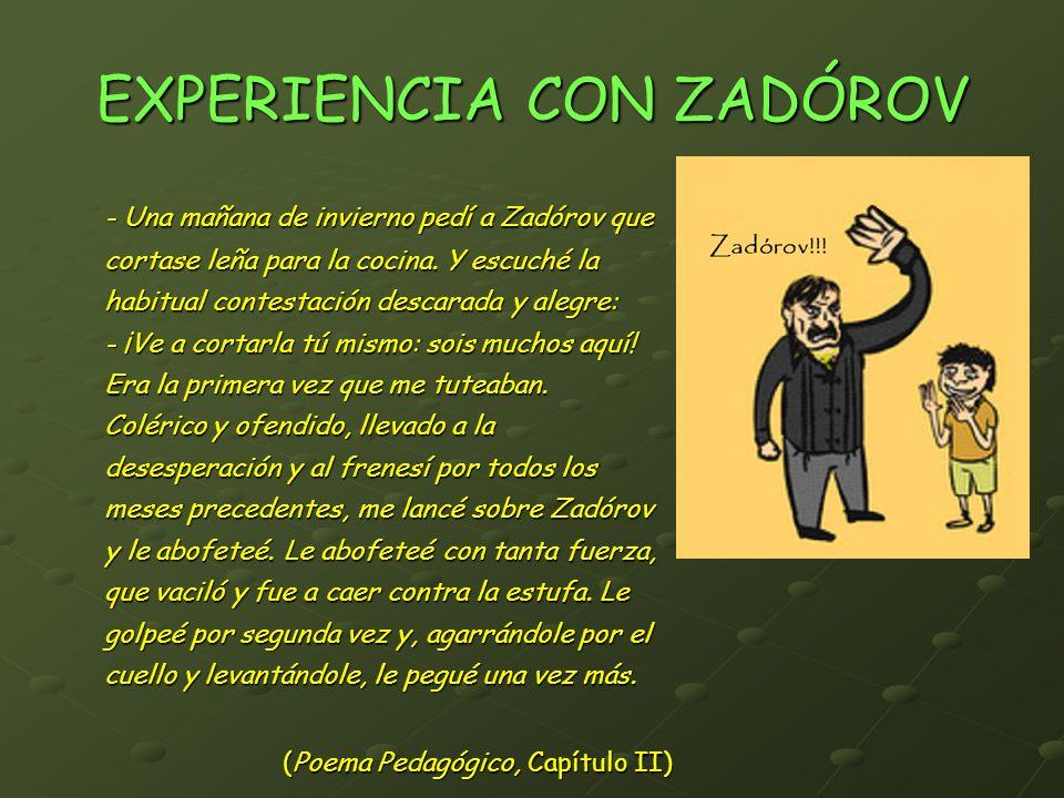 EXPERIENCIA CON ZADÓROV