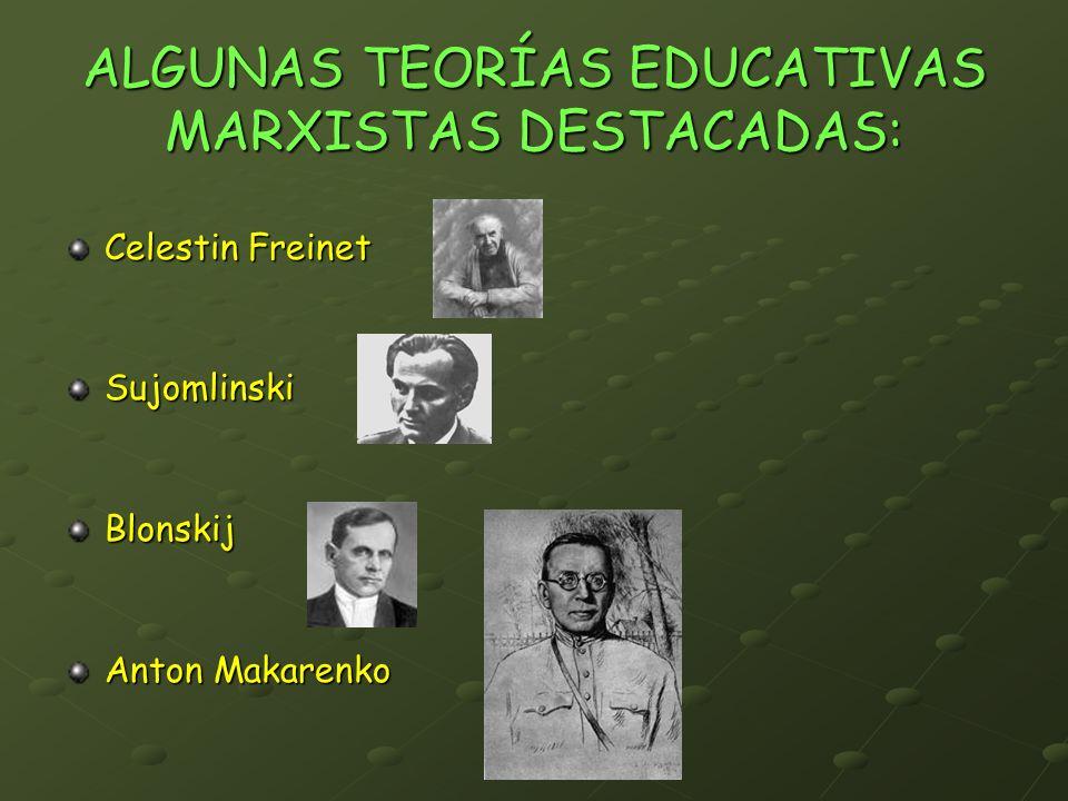 ALGUNAS TEORÍAS EDUCATIVAS MARXISTAS DESTACADAS: