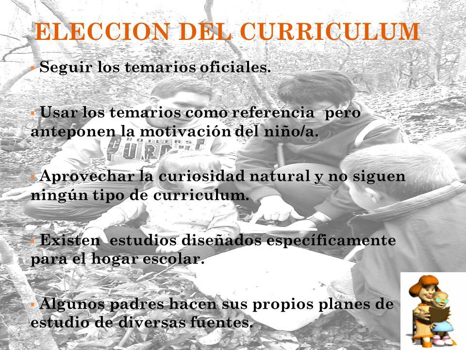 ELECCION DEL CURRICULUM