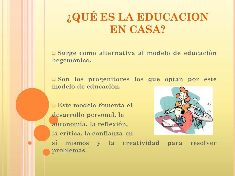 ¿QUÉ ES LA EDUCACION EN CASA