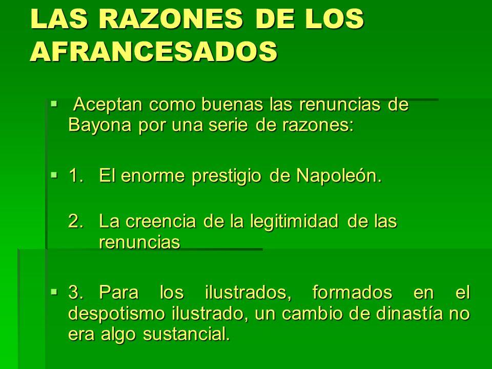 LAS RAZONES DE LOS AFRANCESADOS