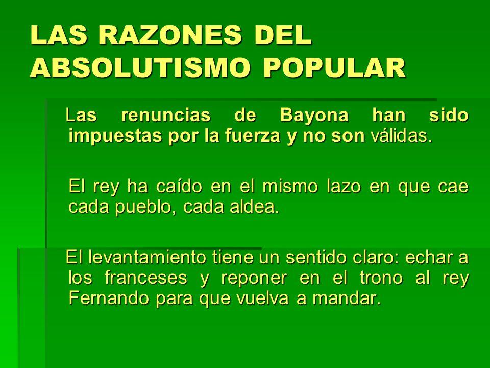 LAS RAZONES DEL ABSOLUTISMO POPULAR