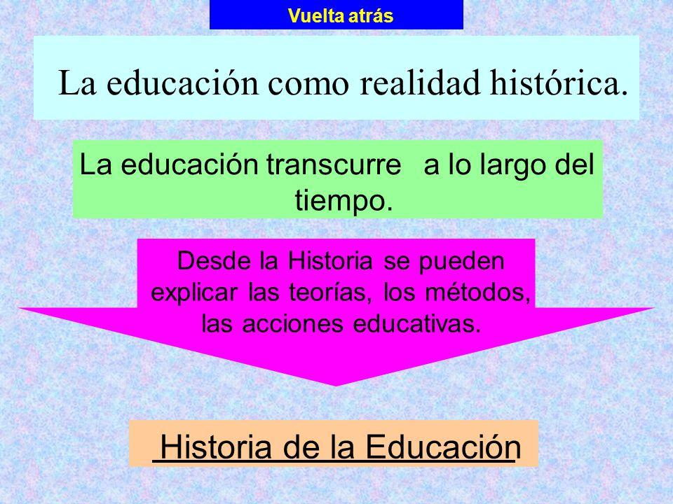 La educación como realidad histórica.
