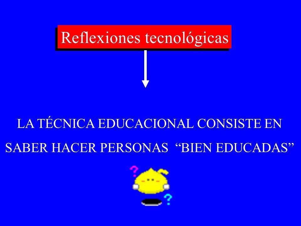 Reflexiones tecnológicas
