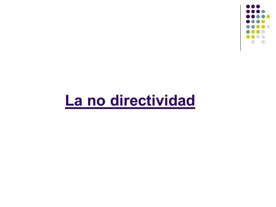 La no directividad
