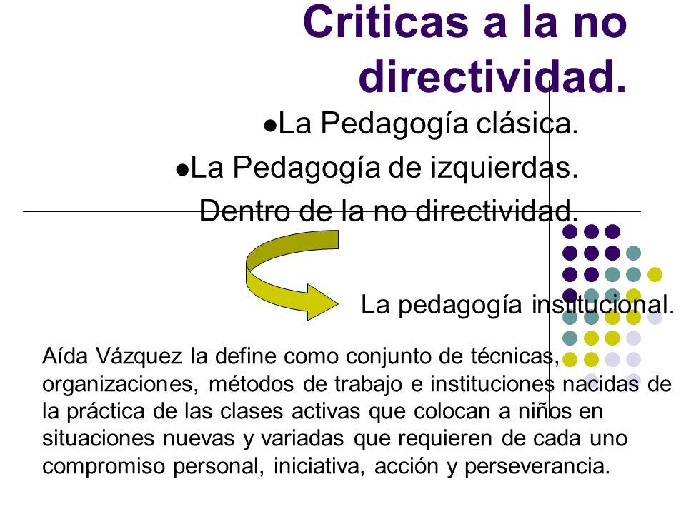 Criticas a la no directividad.