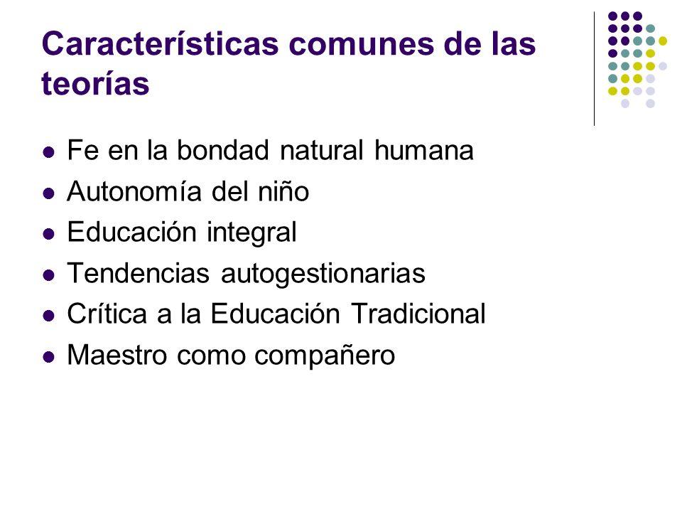 Características comunes de las teorías