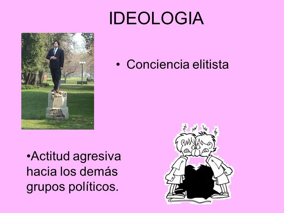 IDEOLOGIA Conciencia elitista