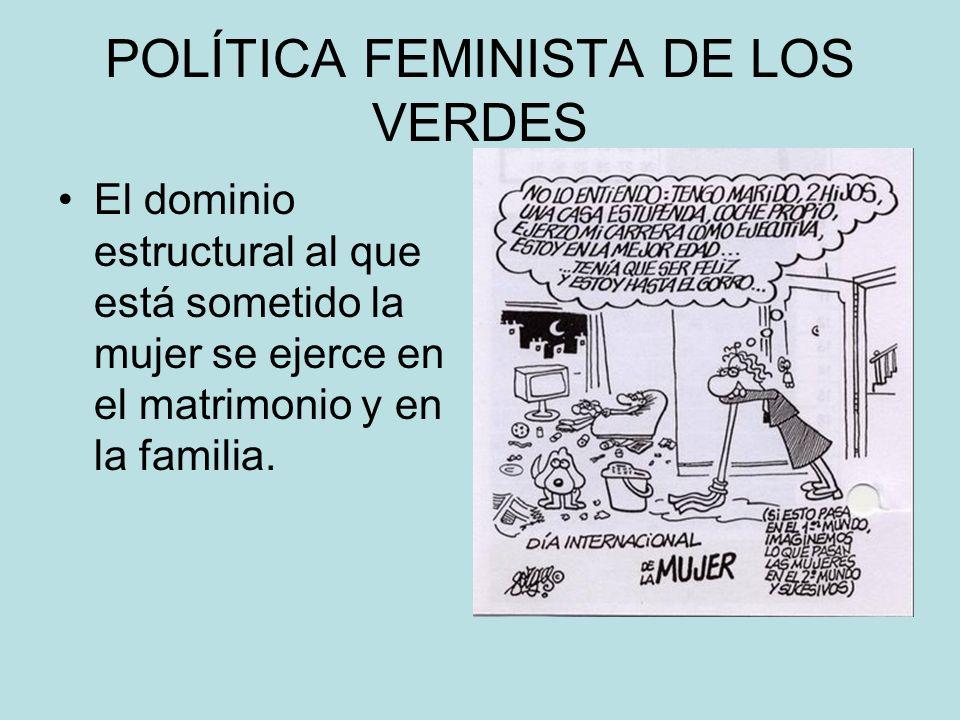 POLÍTICA FEMINISTA DE LOS VERDES