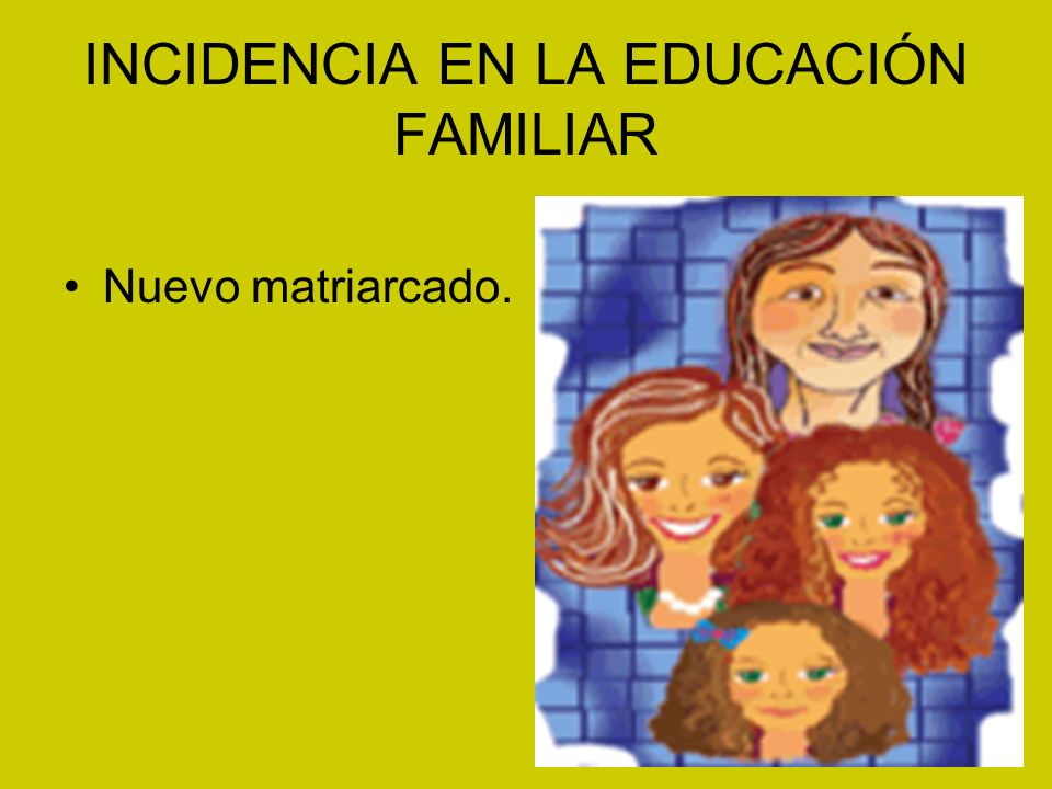 INCIDENCIA EN LA EDUCACIÓN FAMILIAR