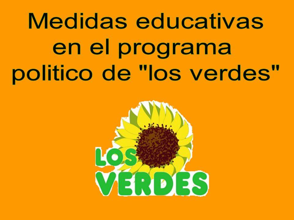 Medidas educativas en el programa politico de los verdes