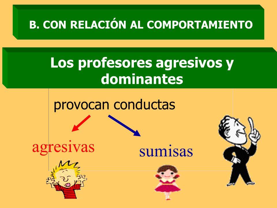 agresivas sumisas Los profesores agresivos y dominantes