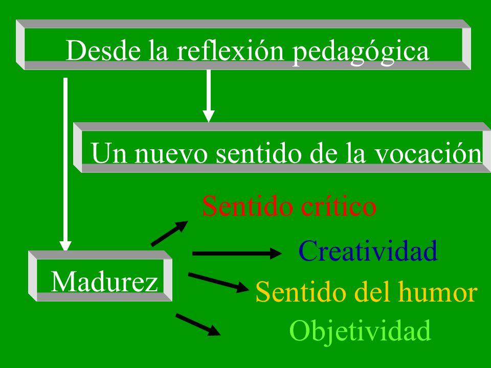 Desde la reflexión pedagógica