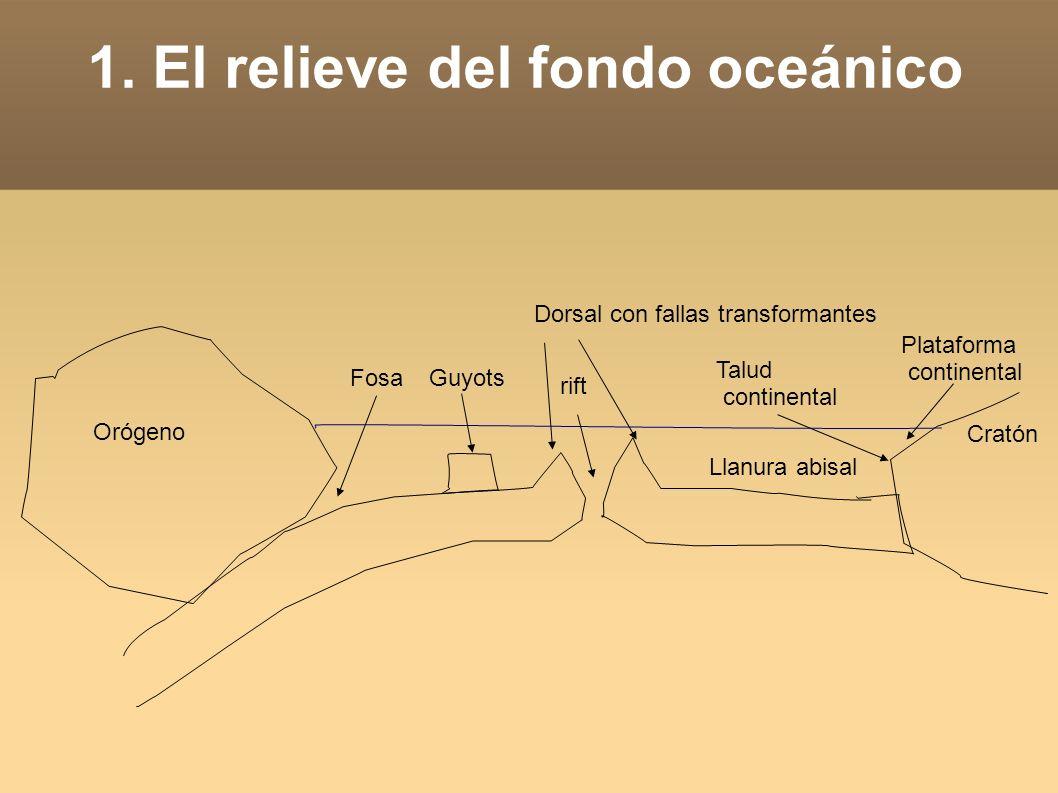 1. El relieve del fondo oceánico