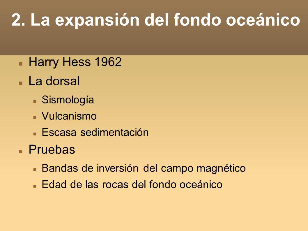 2. La expansión del fondo oceánico