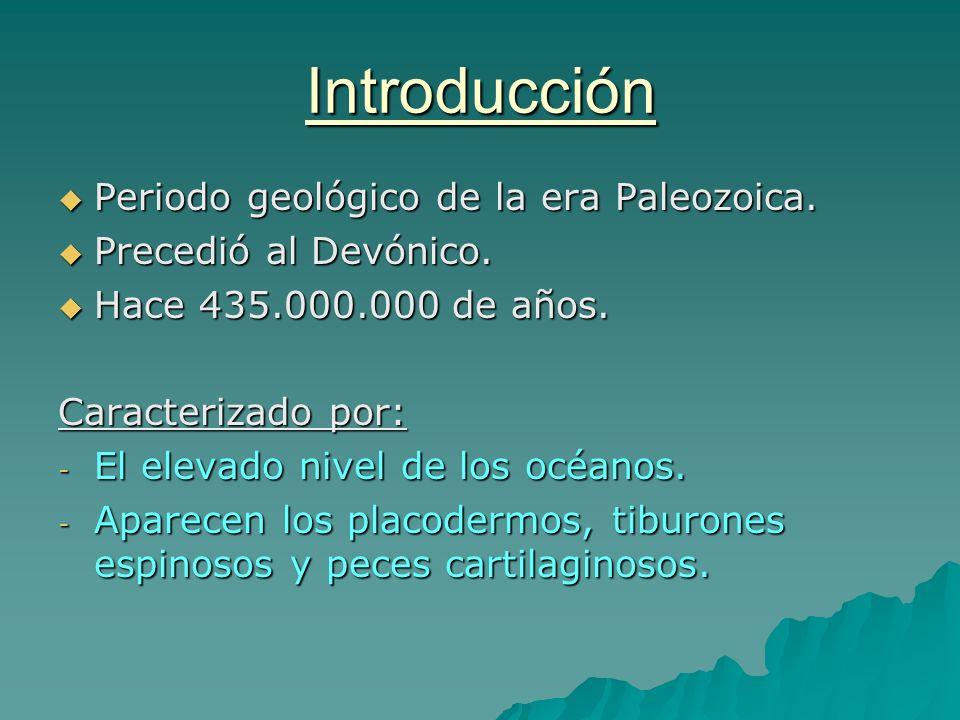 Introducción Periodo geológico de la era Paleozoica.