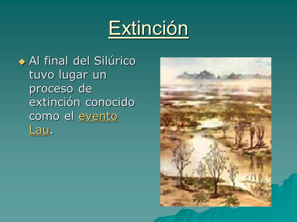 Extinción Al final del Silúrico tuvo lugar un proceso de extinción conocido como el evento Lau.