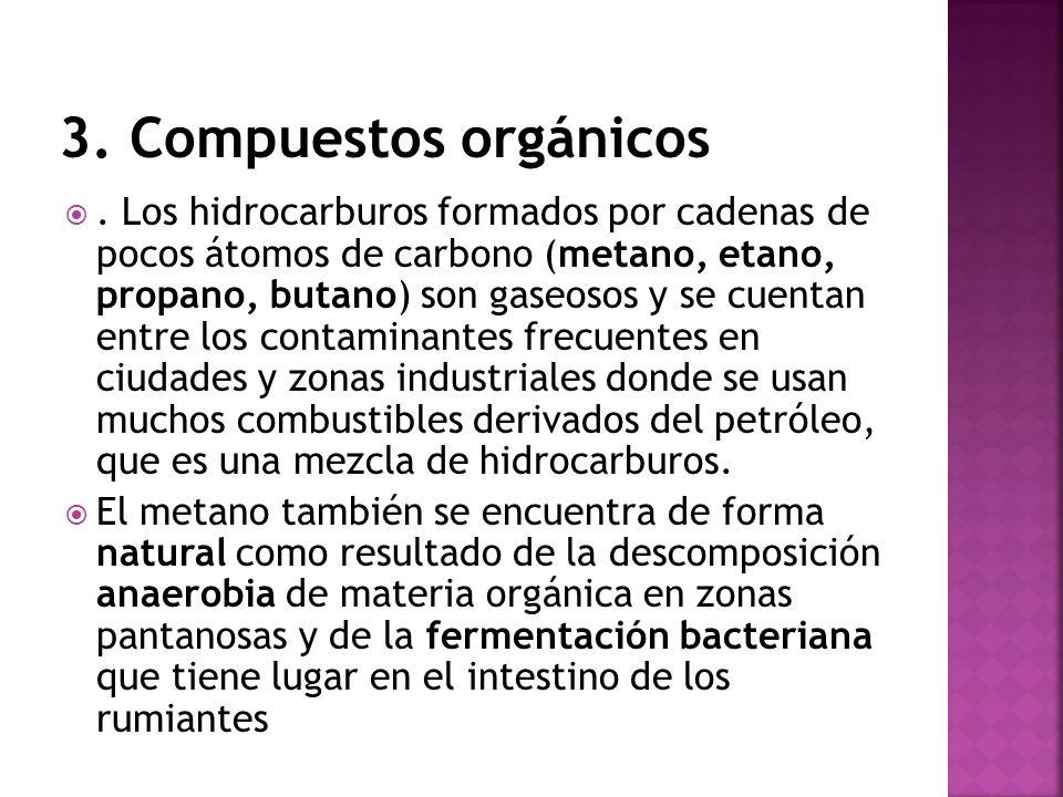 3. Compuestos orgánicos