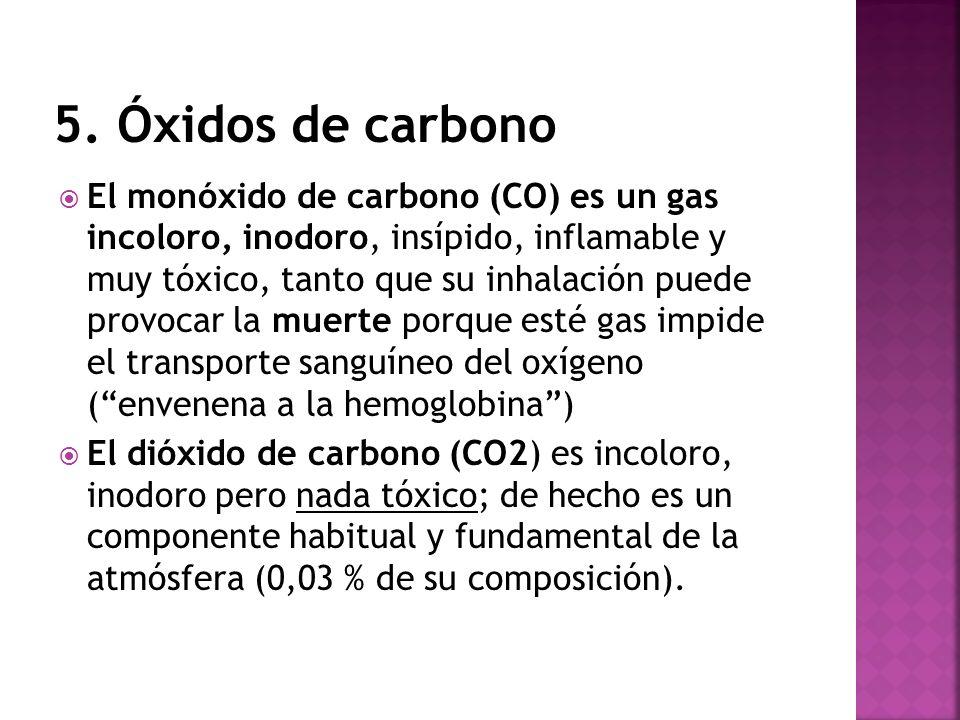 5. Óxidos de carbono