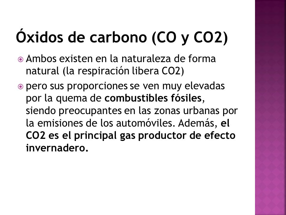 Óxidos de carbono (CO y CO2)