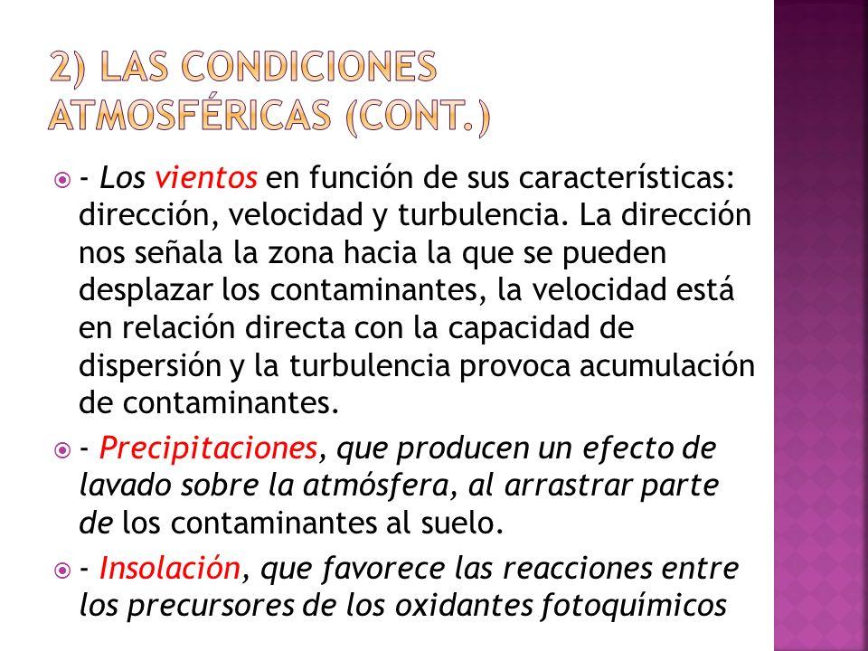 2) Las condiciones atmosféricas (cont.)