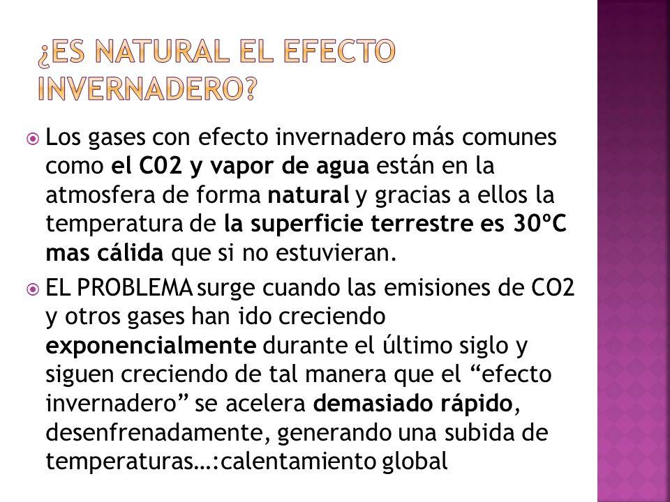 ¿Es natural el efecto invernadero