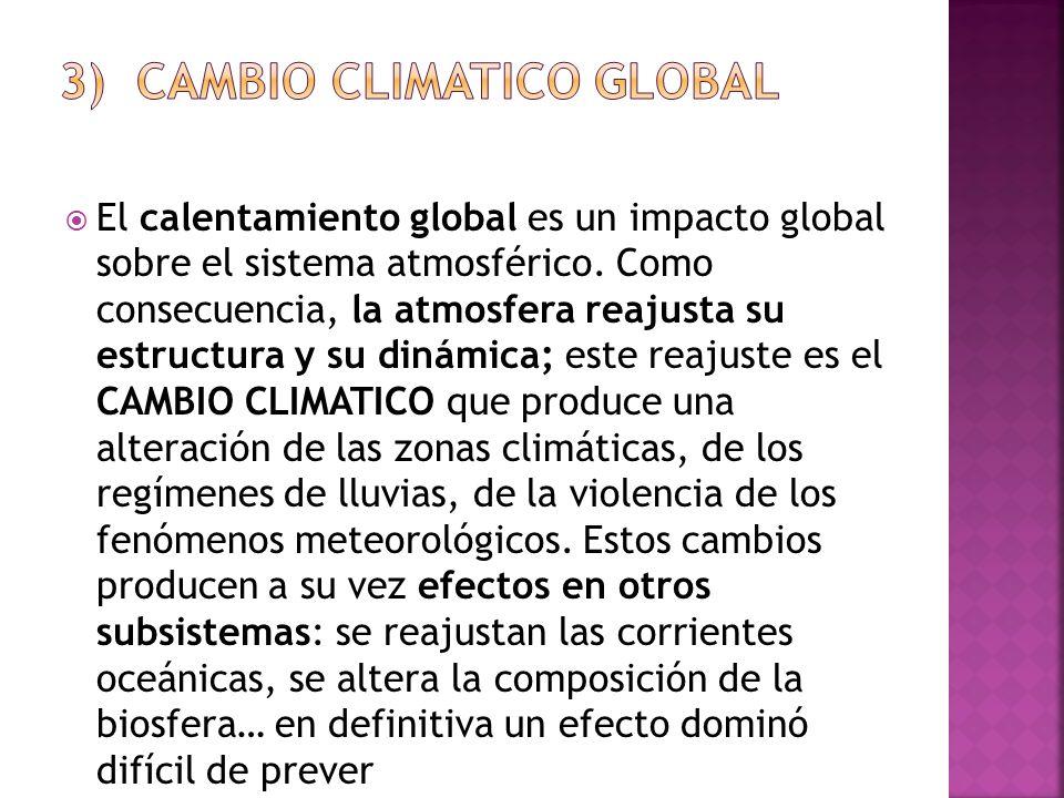 3) CAMBIO CLIMATICO GLOBAL