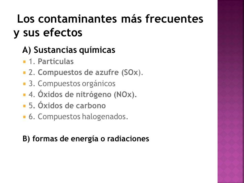 Los contaminantes más frecuentes y sus efectos